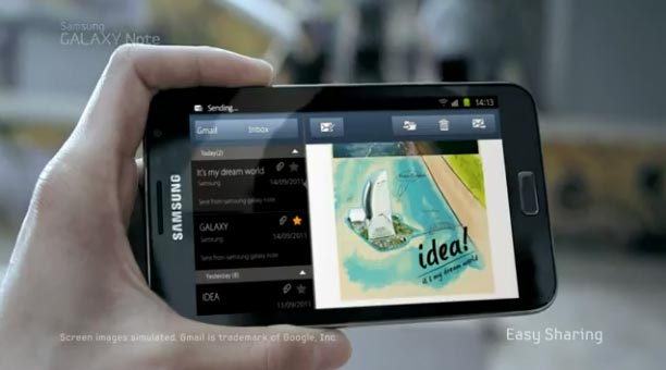 galaxy note commercial
