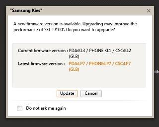 Official Philippine Samsung Galaxy S2 Android Ice Cream Sandwich LP7 update now at Kies