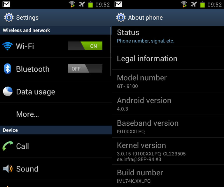 galaxy s2 android 4 ics 2 How to Install Official Android 4.0.3 on Samsung Galaxy S II   XXLPQ Firmware
