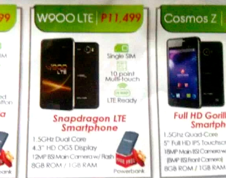 cherry mobile w900 lte Cherry Mobile W900 LTE Price & Specs